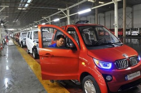 China's Electric Cars Sales to Double in 2016: Minister