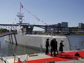 U.S. Military Christens Self-Driving 'Sea Hunter' Warship