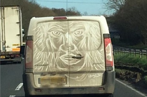Essex 'Van' Gogh Makes Art on Mucky Vans to 'Make Drivers Smile'