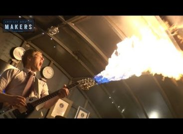 As Promised, The Flamethrower Electric Guitar