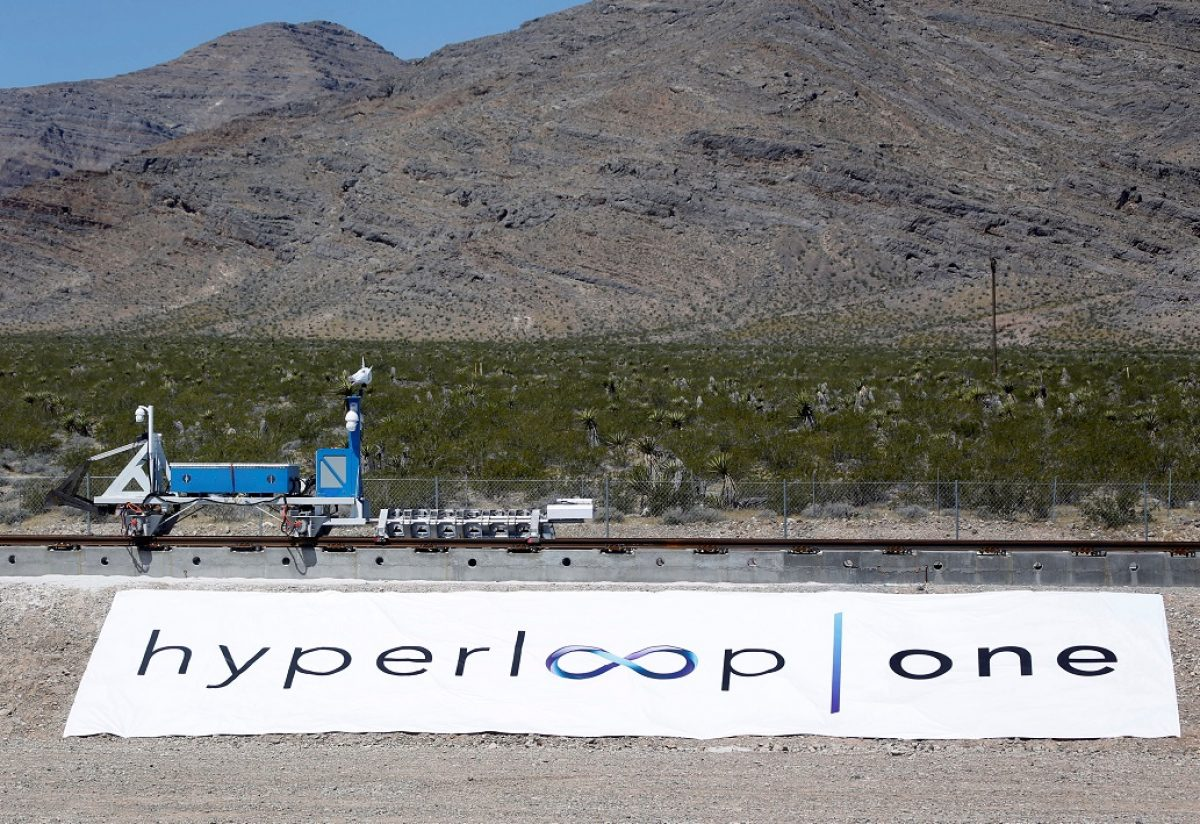 'Hyperloop' Sled Speeds Through U.S. Desert Via Electromagnets