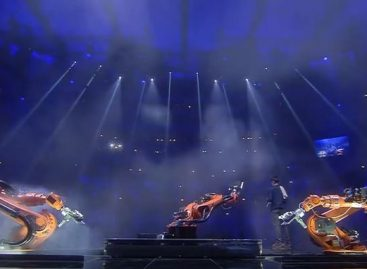 Did You See Eurovision's Bizarre 'Robot Riverdance' at Half Time?