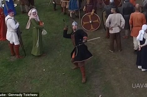 Bullseye! Man Frustrated by 'Annoying' Drone Downs It With a Perfect Throw of His Spear