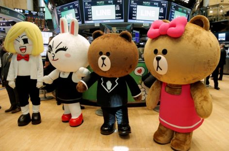 Japanese Chat App Line Soars in New York-Tokyo Dual Listing
