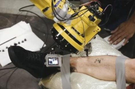 World's First Tattoo by Industrial Robot