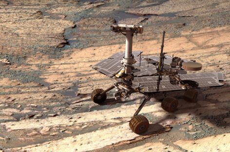New Year Yields Interesting Bright Soil for Opportunity Rover