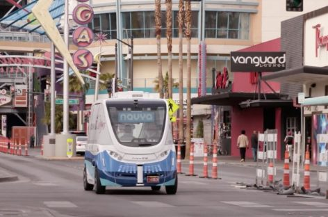 Las Vegas Launches the First Electric Autonomous Shuttle on U.S. Public Roads